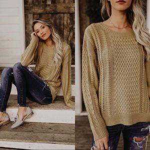 NWOT Vici Mustard Sweater